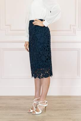 Rachel Parcell Crochet Lace Skirt in Summer Navy