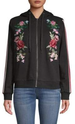G Star Embroidered Hooded Jacket