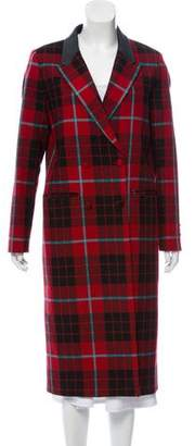 Each X Other Oversize Plaid Long Coat