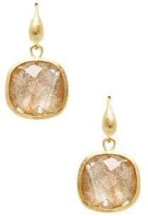 Rivka Friedman Crystal Square Drop Earrings
