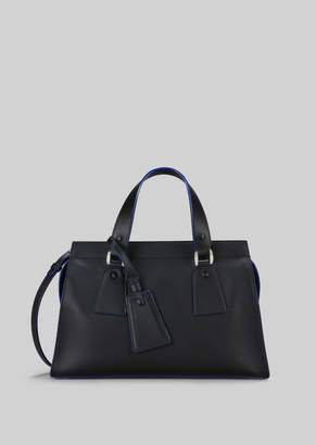 Giorgio Armani Top Handle Bag In Vegetable Tanned Calfskin