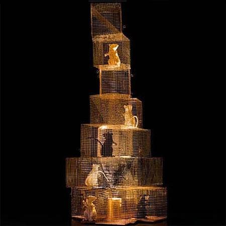 Ingo Maurer - seven rats table light by ingo maurer