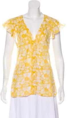 Stella McCartney Printed Short Sleeve Blouse