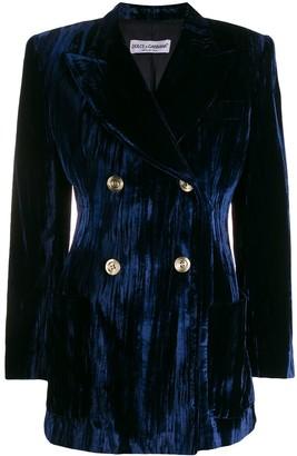 Dolce & Gabbana Pre-Owned 1990's ribbed velvet doublebreasted jacket