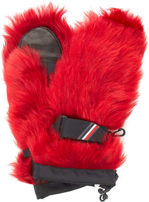 Moncler Genius Coated Shell-Trimmed Shearling Mittens