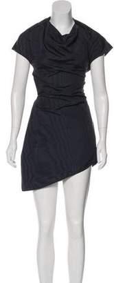 Rosie Assoulin Asymmetrical Silk-Blend Dress