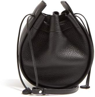 The Row Drawstring Leather Cross Body Bag - Womens - Black