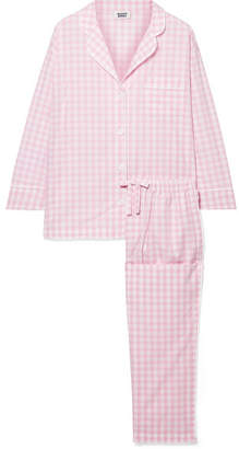 Sleepy Jones - Marina Gingham Cotton-poplin Pajama Set - Pink