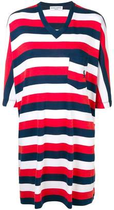 Sonia Rykiel striped V-neck dress