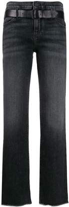 RtA belted flared jeans
