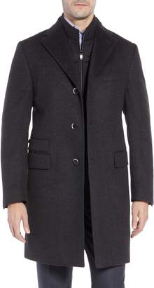 Corneliani Solid Wool Overcoat