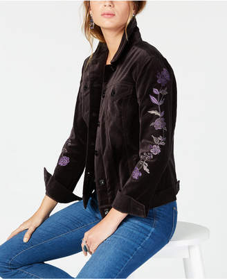 Style&Co. Style & Co Petite Cotton Velvet Jacket, Created for Macy's