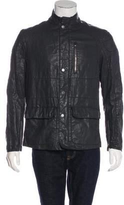 John Varvatos Distressed Linen Jacket