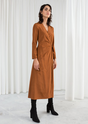 And other stories Belted Midi Wrap Dress
