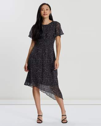 Forcast Alessia Twist-Front Dress