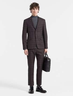 Calvin Klein slim fit wool check suit