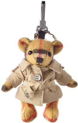 Burberry Thomas Bear Trench Coat Cashmere & Leather Charm