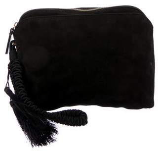 The Row Multi-Pouch Suede Wristlet