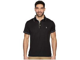 U.S. Polo Assn. Short Sleeve Classic Fit Solid Poly Polo Shirt Men's Clothing