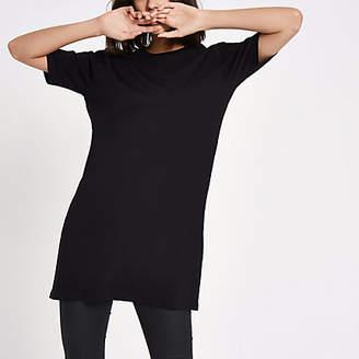 River Island Black longline T-shirt