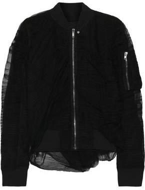 71a7f09cefa8 Rick Owens Plisse-tulle Bomber Jacket