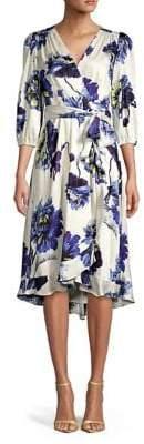 Gabby Skye Floral Wrap Dress