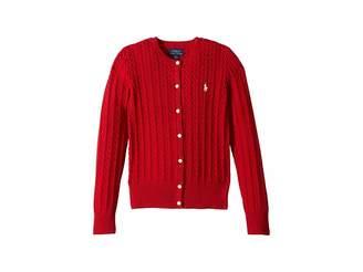 Polo Ralph Lauren Cable-Knit Cotton Cardigan (Little Kids/Big Kids)