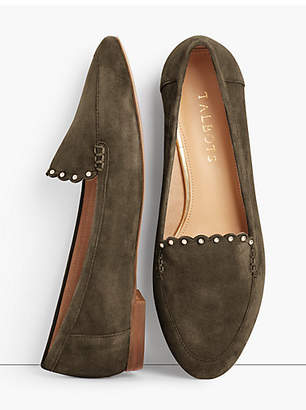 Talbots Ryan Loafers - Kid Suede Scalloped