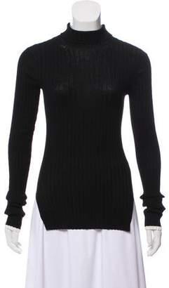 Celine Rib Knit Mock Neck Sweater