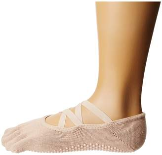toesox Elle Full Toe w/ Grip Women's No Show Socks Shoes
