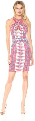 BCBGMAXAZRIA Azria Women's Padma Jacquard Knit Halter Dress