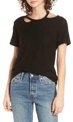 Women's Michelle By Comune Cutout Neck Tee $32 thestylecure.com