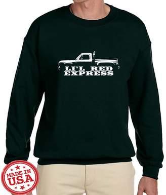 Express Maddmax Car Art 1978 1979 Dodge Lil Red Pickup Truck Classic Outline Design Sweatshirt 2XL