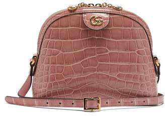 Gucci Ophidia Crocodile Cross Body Bag - Womens - Light Pink