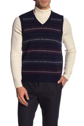 Brooks Brothers V-Neck Fair Isle Vest