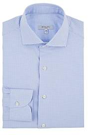 Boglioli Men's Houndstooth Cotton Shirt - Lt. Blue