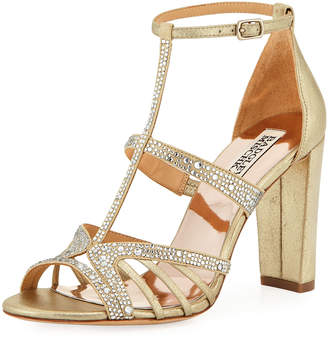 Badgley Mischka Hewitt Chunky Embellished Sandals