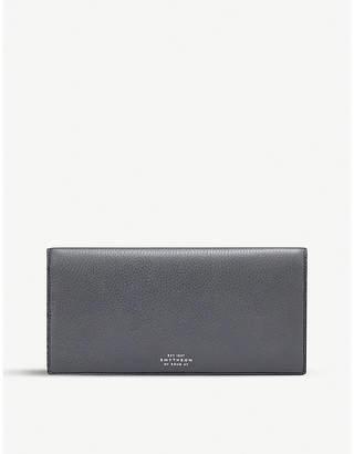 Smythson Burlington slim leather travel wallet