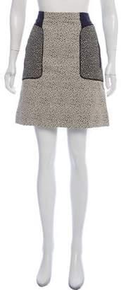 Lela Rose Printed A-Line Skirt