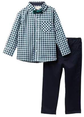 Beetle & Thread Dress Shirt with Bow Tie & Pants Set (Toddler & Little Boys)