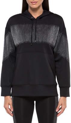 Koral Activewear Titrate Scuba Metallic Pullover Hoodie