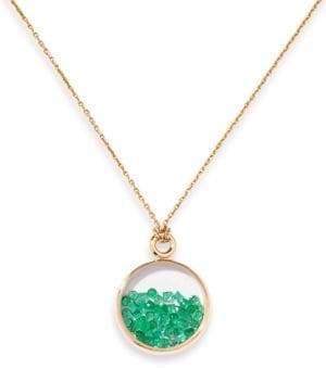 Aurelie Bidermann Baby Chivor Emerald& 18K Yellow Gold Medallion