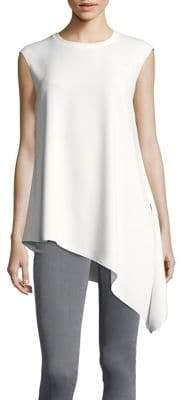 Anne Klein Asymmetrical-Hem Crepe Tunic