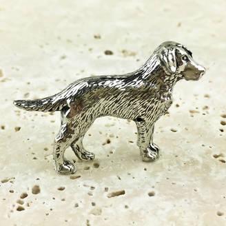 Wild Life Designs Labrador Dog Tie Pin Antiqued Pewter