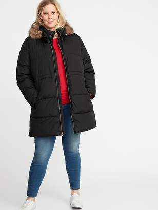 Old Navy Plus-Size Hooded Frost-Free Long-Line Jacket