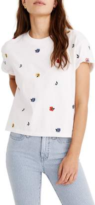 Madewell Confetti Floral Easy Crop Tee