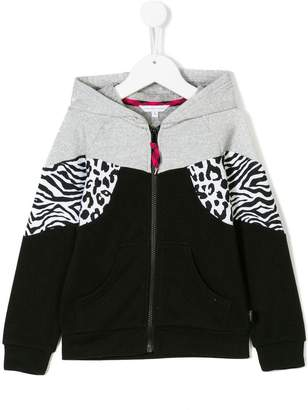 Little Marc Jacobs animal print panelled hoodie