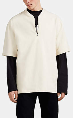Fear Of God Men's Cotton Terry Oversized Quarter-Zip Henley - Cream