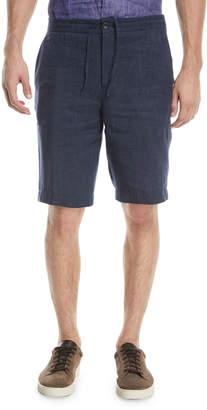 Ermenegildo Zegna Linen Straight-Leg Shorts
