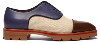 Christian Louboutin Hubertus Canvas And Leather Oxford Shoes - Mens - Multi
